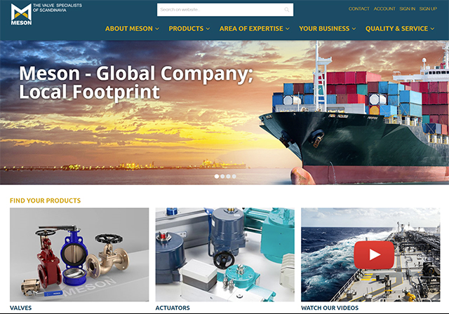 Meson Group releases new web