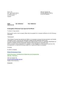 DNV - Prolongation of Renewal Letter